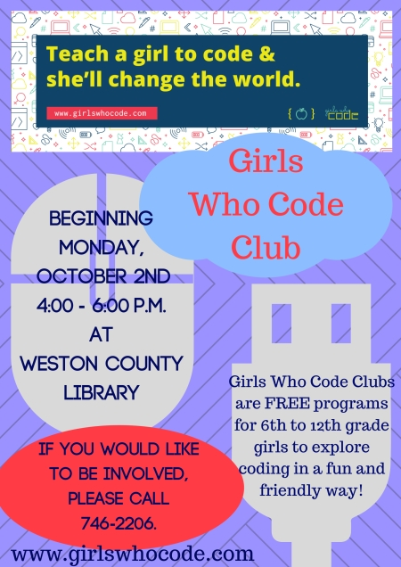 Girls Who Code Flyer