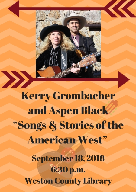 """Kerry Grombacher and Aspen Black will perform their """"Songs & Stories of the American West"""""""