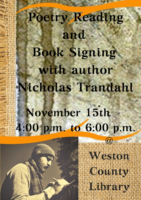 Poetry Readingand Book Signing with authorNicholas Trandahl (1)